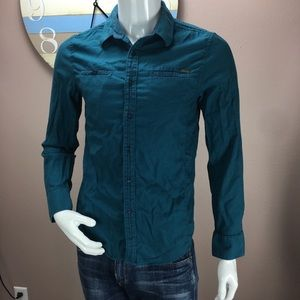 Guess Mens Button Down Shirt Slim Fit Size Medium